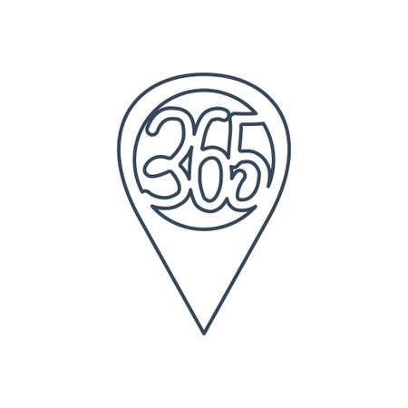location place 365 infinity logo icon design illustration outline
