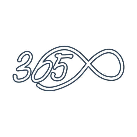 eternal 365 infinity logo icon design illustration outline