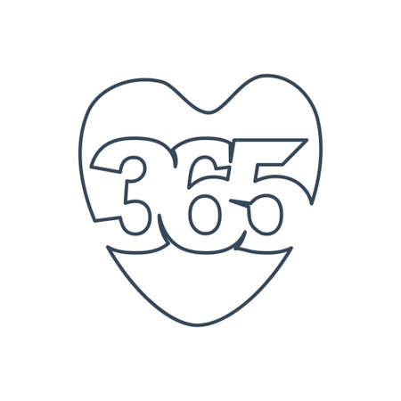 love care 365 infinity logo icon design illustration outline Ilustracja