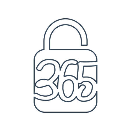 lock secure 365 infinity logo icon design illustration outline Ilustracja