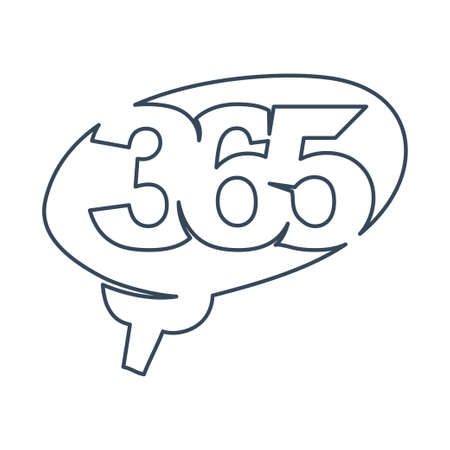 brain idea 365 infinity logo icon design illustration outline Ilustracja