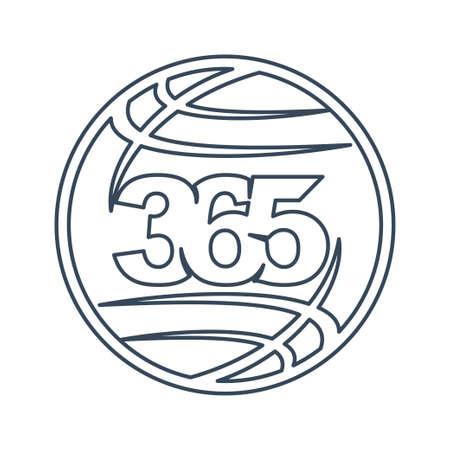 world global 365 infinity logo icon design illustration outline