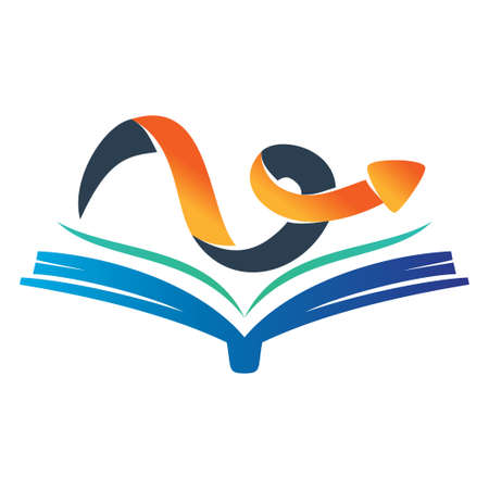 Open Book Arrow Direction Vector color Isolated