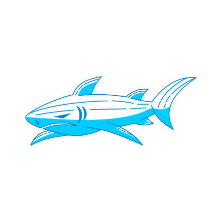 Shark logo design Element vector Outline isolated template Vectores