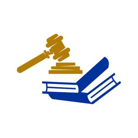 Law Justice Firm Design Vector Icon Vorlage isoliert Vektorgrafik
