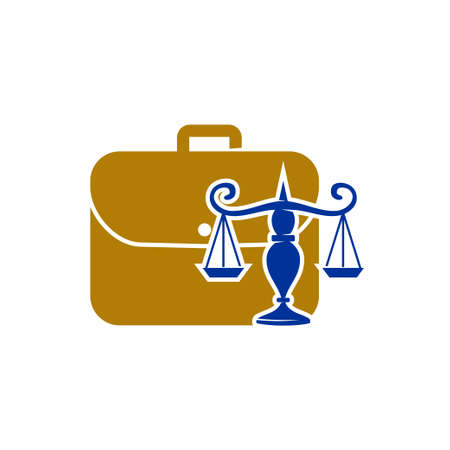 Law Justice Firm  Design Vector icon template Isolated Vettoriali