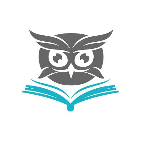 Owl Logo Design Vector Template Isolated