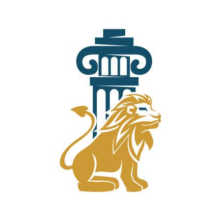 Lion Logo Design Symbol Illustration Template Vector Isolated 스톡 콘텐츠 - 133735315