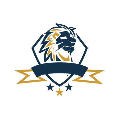 Lion Head Logo Design Symbol Illustration Template Vector Isolated 스톡 콘텐츠 - 133735323