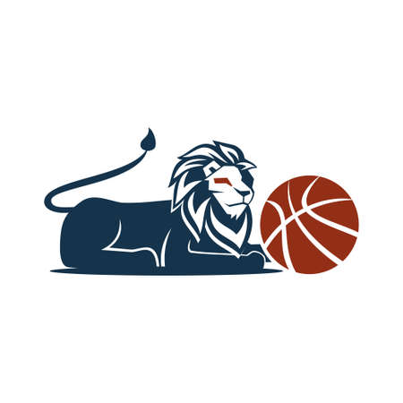 Lion Logo Design Symbol Illustration Template Vector Isolated 일러스트