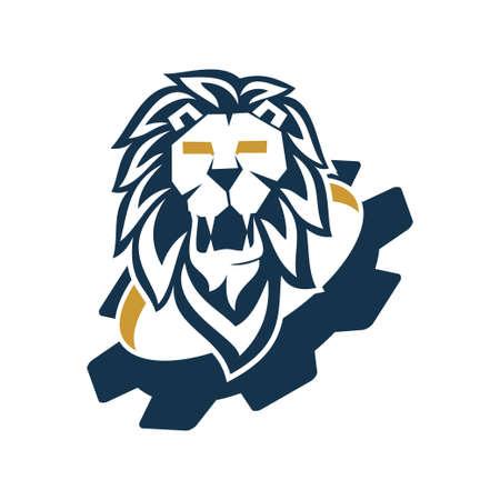 Lion Head Logo Design Symbol Illustration Template Vector Isolated