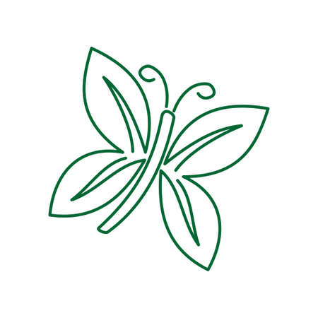 Butterfly Logo Design Template Vector Illustration icon Isolated