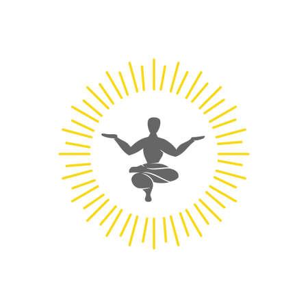 Yoga   design emblem meditation vector illustration Isolated