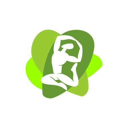 Yoga   design emblem meditation vector illustration Isolated Archivio Fotografico - 134857904
