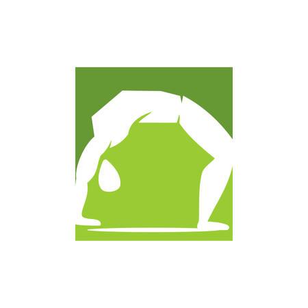 Yoga   design emblem meditation vector illustration Isolated Archivio Fotografico - 134857908