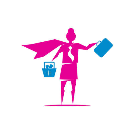 Woman power   vector illustration icon symbol isolated 向量圖像