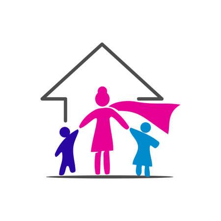 Woman power   vector illustration icon symbol Ilustrace