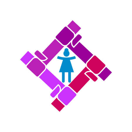 Woman power   vector illustration icon symbol isolated Ilustrace