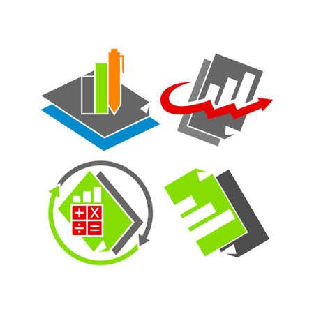 Bookkeeping Accounting logo design template vector set Logo