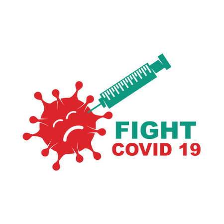 Corona Virus Disease 19 Vector Illustration Template