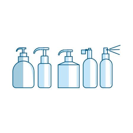 Bottle Tube Spray Container Illustration Vector Shape