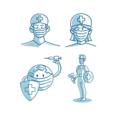 Mask Protection Health Care Illustration Vector Zdjęcie Seryjne - 149534608