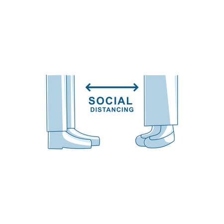 Social distancing avoid crowds template Illustration Zdjęcie Seryjne - 151470001