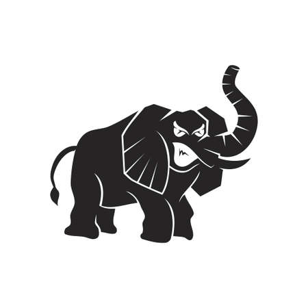 elephant Angry Monster mascot Template Illustration