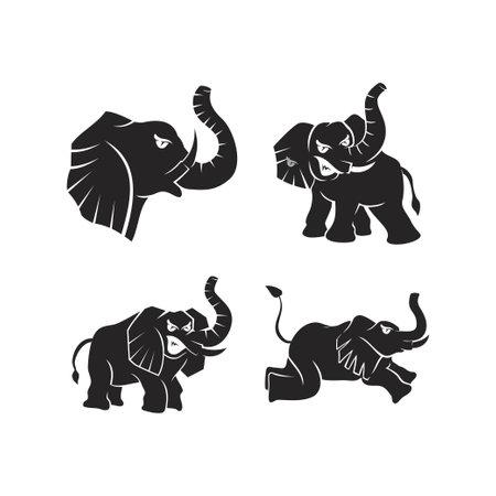 elephant Animal mascot Template Set