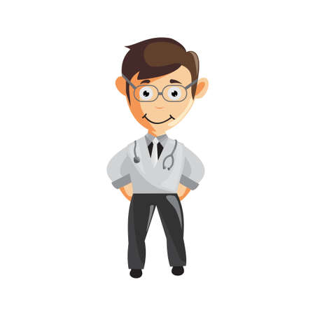 Doctor Man characters hospital medicine staff clothes illustration standing