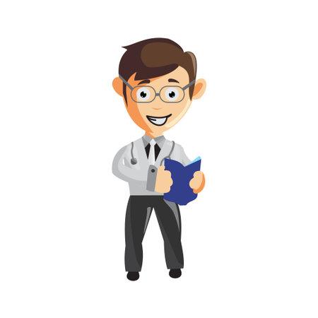 Doctor Man characters hospital medicine staff clothes illustration Bring Book Zdjęcie Seryjne - 162085306
