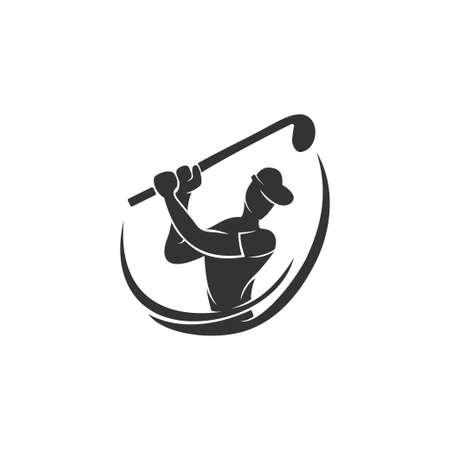 Golf Sport Championship Silhouette Abstract Design Template Ilustração