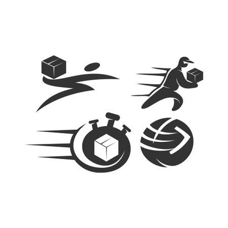 Fast delivery Design Graphic Template Set Ilustração