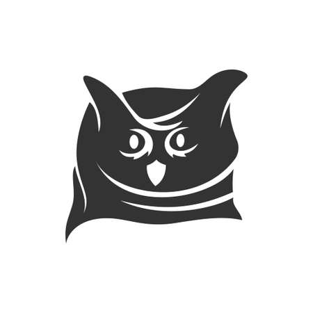 Owl Head mascot illustration Template isolated in white background Ilustrace