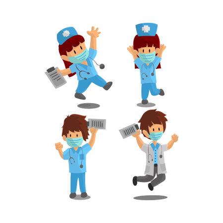 Nurse Character Design Vector illustration for International Nurse Day
