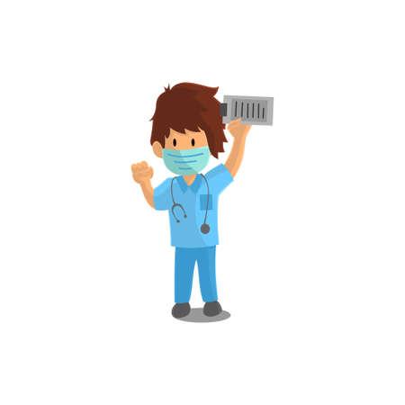 Nurse Success Character Design Vector illustration for International Nurse Day