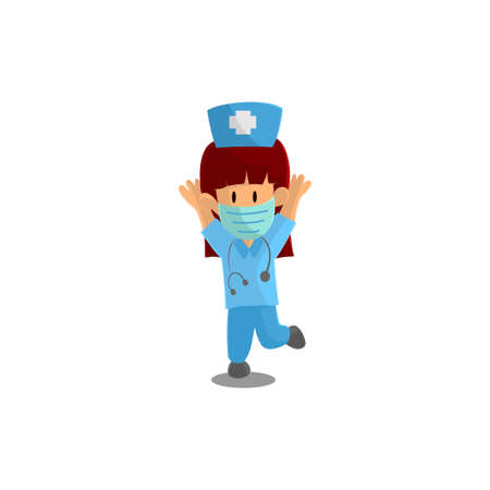 Nurse Happy Character Design Vector illustration for International Nurse Day