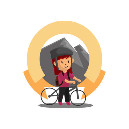 World Bicycle Day with Blank Ribbon Character Design Illustration
