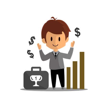Business Success achievement Illustration Character Design