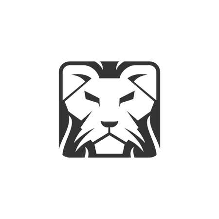 lion head template illustration design Isolated