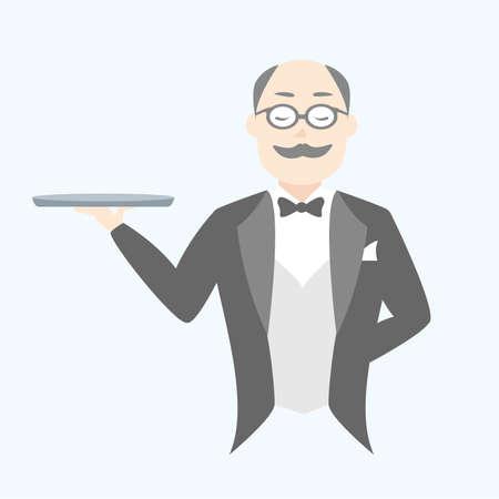 Butler vector illustration Banque d'images - 111956628