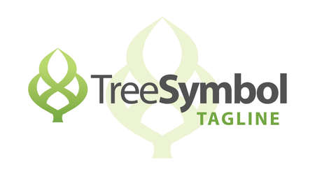 Abstract Tree Symbol Icon or Logo Concept