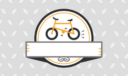 Bicycle Frame Badge vector illustration Çizim