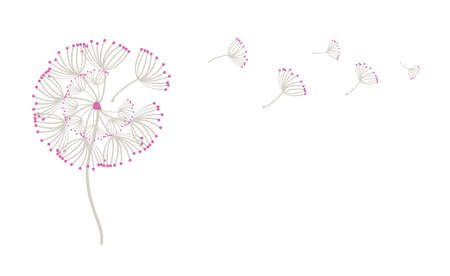 Blowing Dandelion template design vector illustration