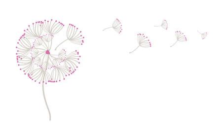 Blowing Dandelion template design vector illustration