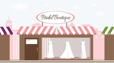 Bridal Boutique Shop vector illustration