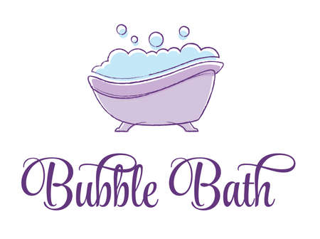 Bubble Bath Tub vector illustration