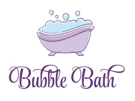 Bubble Bath Tub vector illustration