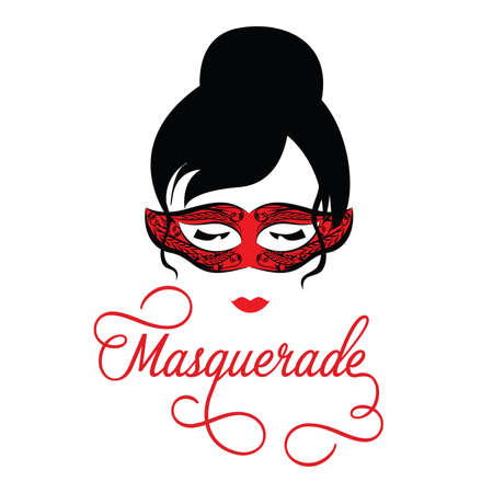 Masquerade Mask on a Silhouette Woman