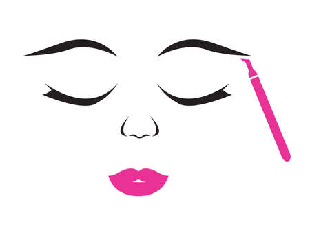 Microblading session vector illustration Stock Illustratie